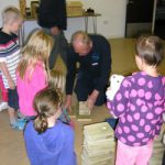 Ranger pete showing us how to make a bird box