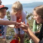 Rockpooling at Lunderston Bay