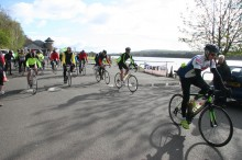 Riders head out of Castle Semple car park