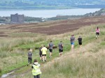 2 Bog Stomp runners and views down the Clyde